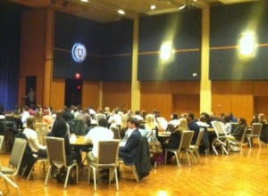 """NexGoal's Zack Wilhelm and Angela Berardinelli joined Kent State student-athletes in a few rounds of """"speed networking"""" at the Student-Athlete Career Night."""