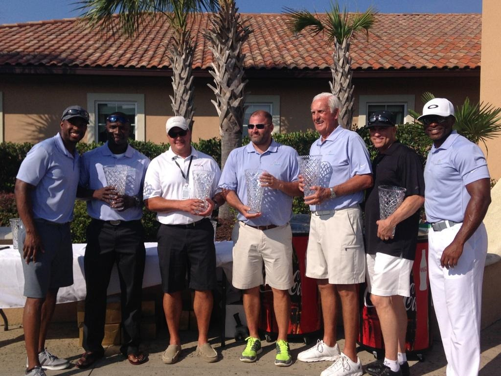 L-R: Andre Davis, Orlando Hudson, Kevin Dahl, John Fritz, Jim Perry, Kurt Seibert, Reggie Sanders