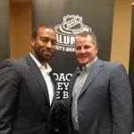 Mike Stone (L) of PAFI and Kevin Dahl (R) at the NHL Alumni Symposium.
