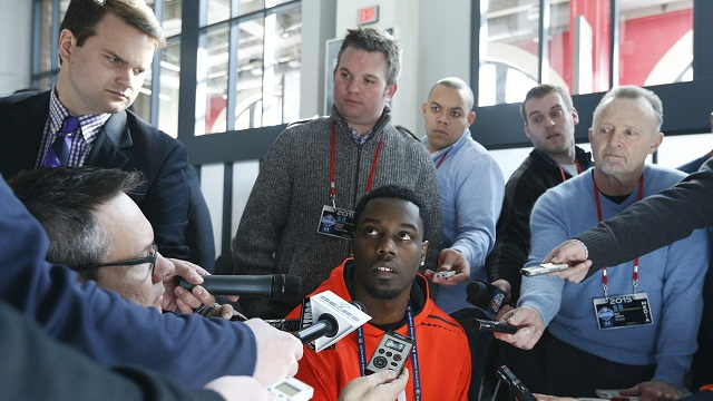 Players are asked some pretty crazy questions at the combine. Photo Credit: NFL.com