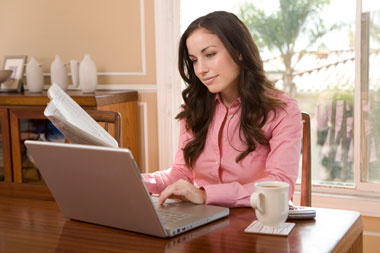 Offering the ability to work from home on a regular schedule helps productivity.